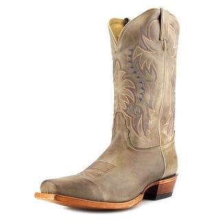 Nocona America Men Round Toe Leather Tan Western Boot