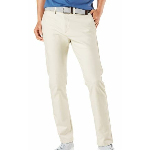 Dockers Mens Chino Pant Beige Size 38x30 Slim Fit Smart-360-Flex Stretch