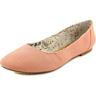 Movmt Grace Flat Women Round Toe Canvas Pink Flats