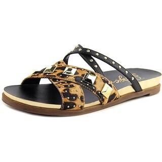 Fergie Dexter Open Toe Suede Sandals