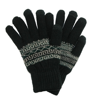 Link to CTM® Men's Fairisle Touchscreen  Gloves Similar Items in Gloves