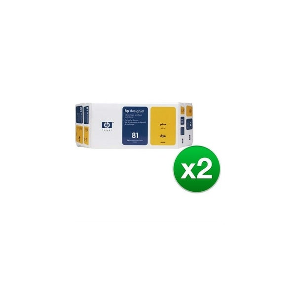 HP 81 Ink Cartridge - Yellow (C4993A) (2-Pack)