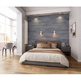 Link to NaturaPlank Peel and Stick Real Wood Wall Panels with 3M Adheisive Tape, Warm Grey Similar Items in Wall Coverings