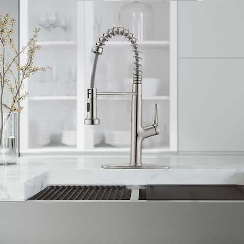 Kitchen Faucet Sink Faucet with Pull Out Sprayer, Single Hole and 3 Hole Deck Mount