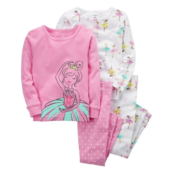 a869143b0 Shop Carter s Little Gils  4-Piece Ballerina Snug Fit Cotton PJs
