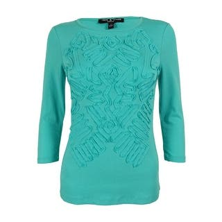 Cable & Gauge Women's 3/4 Sleeve Top https://ak1.ostkcdn.com/images/products/is/images/direct/73f1306be97a1ac045828a7221d66a043e600f09/Cable-%26-Gauge-Women%27s-3-4-Sleeve-Top.jpg?impolicy=medium