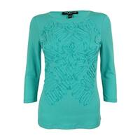 Cable & Gauge Women's 3/4 Sleeve Top - Sea Green - pxs