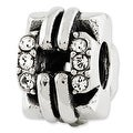 Sterling Silver Reflections Swarovski Elements Squares Bali Bead - Thumbnail 0
