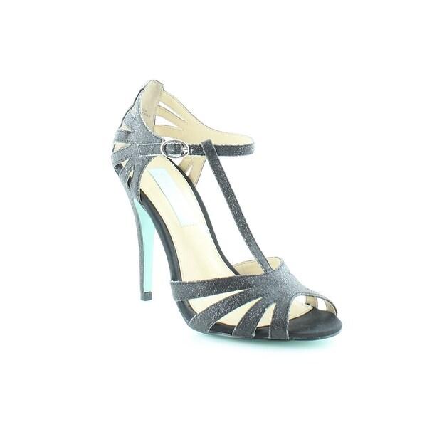 Betsey Johnson Tee Women's Heels Blk Glittr - 5.5