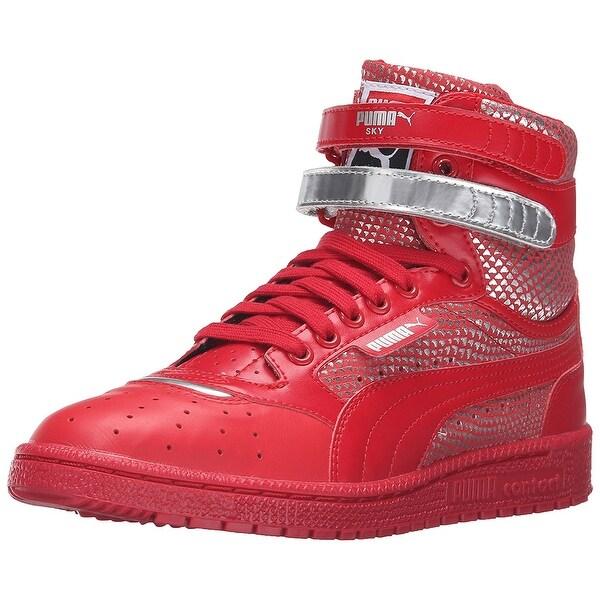 Shop PUMA Womens SkyllHi Leather Hight Top Lace Up Basketball Shoes ... 24072e3092