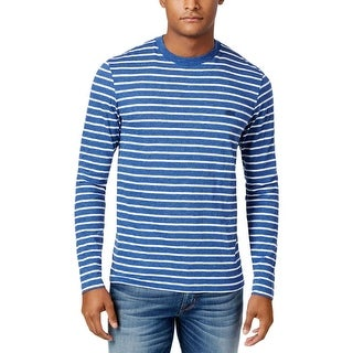 Lacoste Mens Big & Tall T-Shirt Striped Long Sleeves - 4Xl