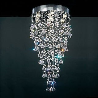 PLC Lighting PLC 81723 Seven Light Semi Flush Mount Ceiling Fixture from the Beverly Collection