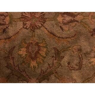 Safavieh Handmade Heritage Timeless Traditional Green/ Gold Wool Rug (4' x 6')