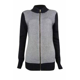 Charter Club Women's Textured Zip-Front Sweater