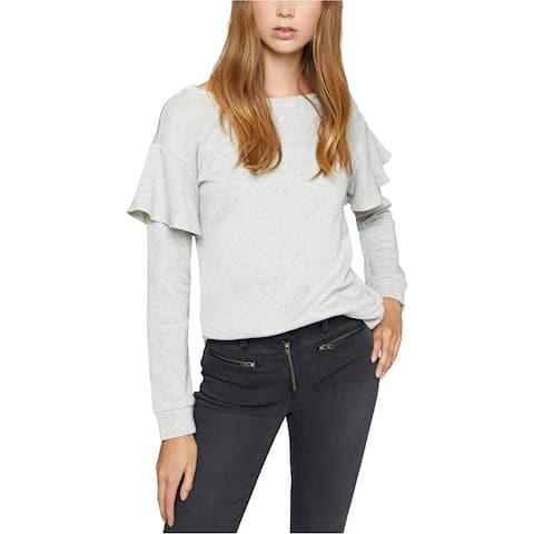 Sanctuary Clothing Womens Ruffled Sweatshirt