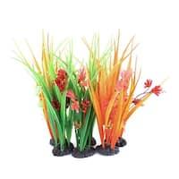 Unique Bargains 6 Pcs 22cm Colourful Plastic Artificial Plant Ornament for Aquarium Fish Tank