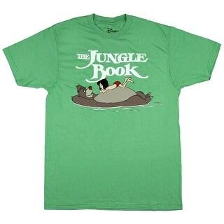 Disney Jungle Book Mowgli Baloo Graphic Mens Short Sleeve Cartoon T-Shirt