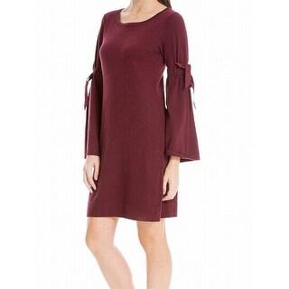 Max Studio NEW Red Knit Tie-Sleeve Women's Size XL Sweater Shift Dress