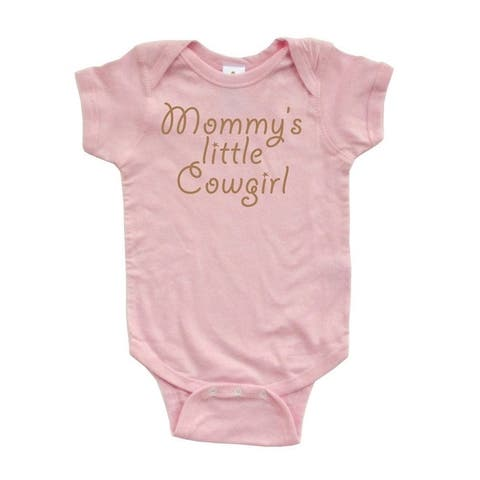 MommyS Little Cowgirl Adorable Cute Baby Soft Cotton Country Western Girl Romper
