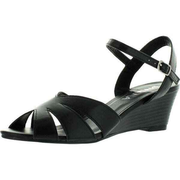 Diviana Nicki-21 Women's Ankle Strap Wedge Sandals