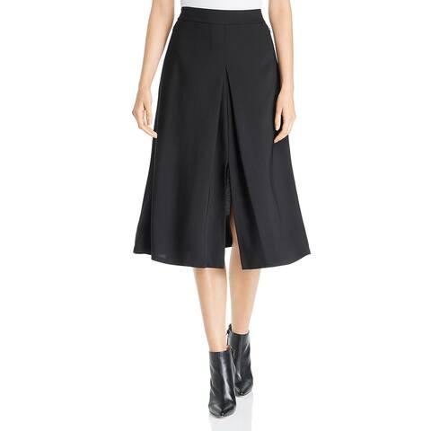 Kobi Halperin Womens Robyn A-Line Skirt Pleated Below Knee - Black