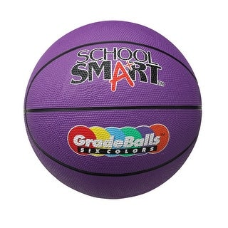 School Smart 29-1/2 in Gradeball Rubber Men's Basketball, Violet
