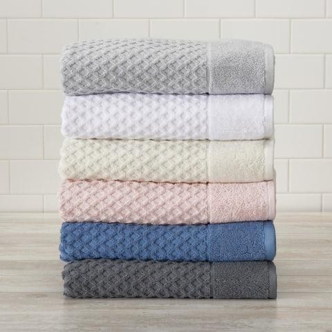 Cotton Textured Towel Set Grayson Collection
