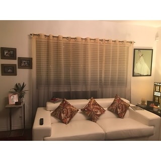 Achim Semi Sheer Ombre Curtain Panel