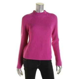 Lauren Ralph Lauren Womens Petites Wool Long Sleeves Pullover Sweater