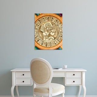 Easy Art Prints William Sutton's 'Mayan Woodcarving' Premium Canvas Art