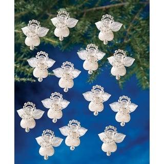 "Holiday Beaded Ornament Kit-Littlest Angels 1.125"" Makes 24"