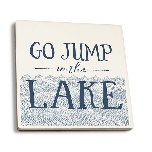 Go Jump In The Lake (Wave) - LP Artwork (Set of 4 Ceramic Coasters)