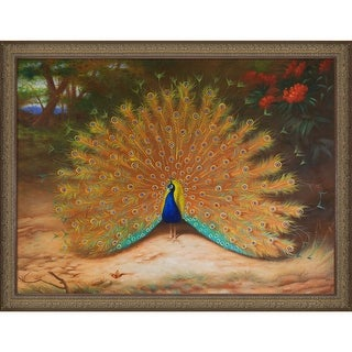 Archibald Thorburn 'Peacock and Peacock Butterfly, 1917' Hand Painted Oil Reproduction