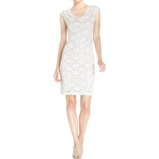 5735a9b2eb1 Connected Apparel Womens Cocktail Dress Lace Ruched. SALE. Quick View