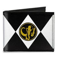Diamond Black Ranger Mastodon Power Logo Canvas Bi Fold Wallet One Size - One Size Fits most