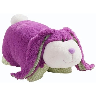 """Link to My Plush Pillow Pet Large 18"""" Square Purple Bunny with Purple Nose - Multi Similar Items in Stuffed Toys"""
