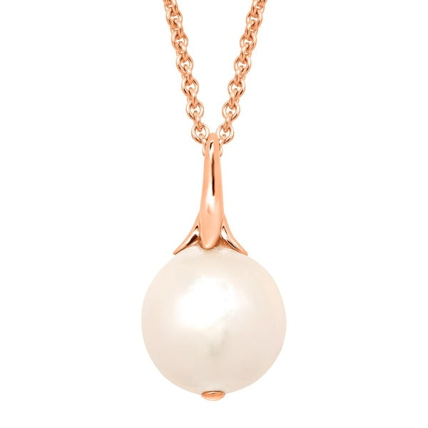 Honora 15 mm Ming Freshwater Pearl Pendant in 14K Rose Gold