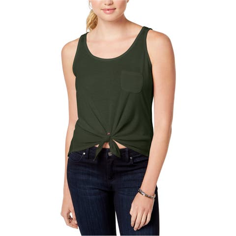 Rebellious One Womens Tie-Front Tank Top