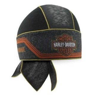 Harley-Davidson Men's Bar & Shield Asphalt Mesh Headwrap, Black HW29464 - One size