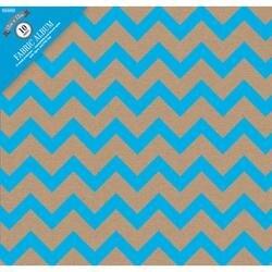 "Kraft Chevron Blue - Colorbok Post Bound Album 12""X12"""