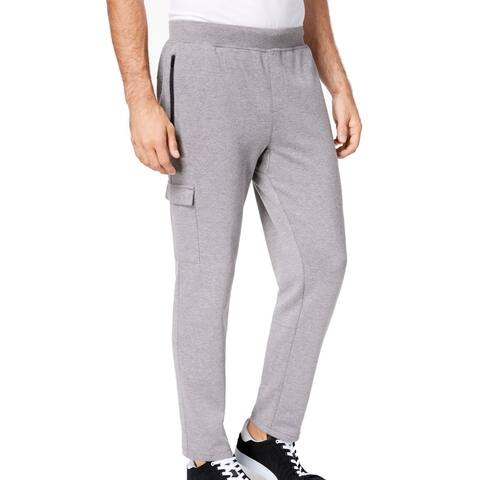 Ideology Men Cargo Sweatpant Heather Gray Large L Open Cuff French Terry