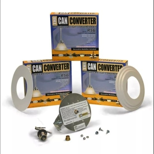 "Woodbridge Lighting R56-WHTFB The Can Converter R56 Recessed Can Light Conversion Kit for 5"" and 6"" Recessed Cans"