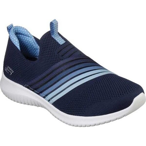 159280b669b62 Shop Skechers Women s Ultra Flex Brightful Day Slip-On Shoe Navy Light Blue  - On Sale - Free Shipping Today - Overstock - 25484198
