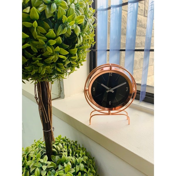 "Lauren Taylor- Copper Table Clock - 8x5x5"". Opens flyout."
