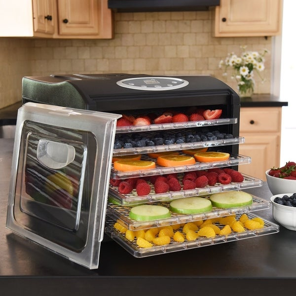 Ivation Electric Countertop Food Dehydrator with 6 Drying Racks, Digital Temperature Controls and Timer with Automatic Shutoff
