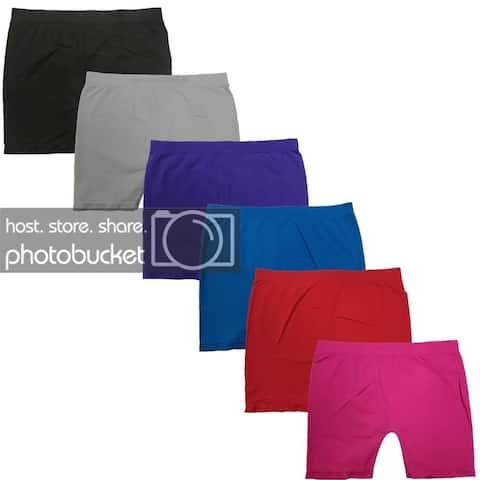 Women's Seamless Sexy Short Leggings (6 Pack)