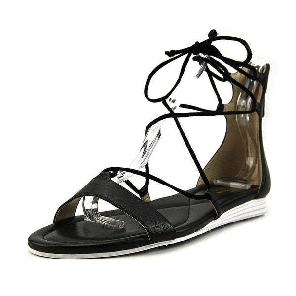 68d4060cb Cole Haan Original Grand Lace-Up Sandal Women Leather Black Gladiator Sandal