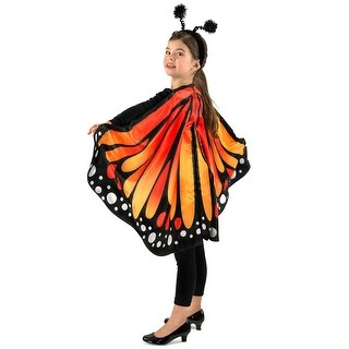 Kids Monarch the Butterfly Costume Cape Accessory - child