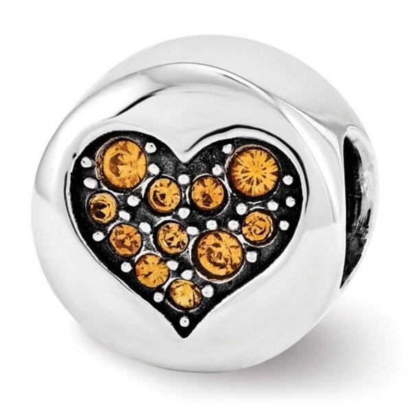 Sterling Silver Reflections Swarovski Elements Nov-Balance Bead (4mm Diameter Hole)