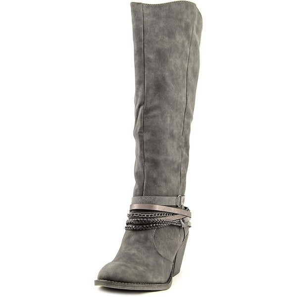 Jellypop Demi Women Round Toe Synthetic Gray Mid Calf Boot